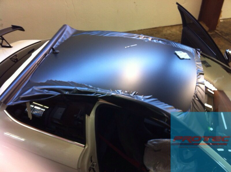 Matte Black Roof Wrap