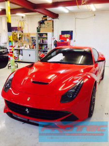 Car Paint Protection Film intalled on Ferrari F12 – Perth
