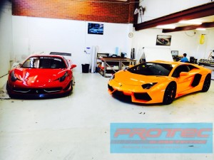 Car Tint installed on Aventador Perth