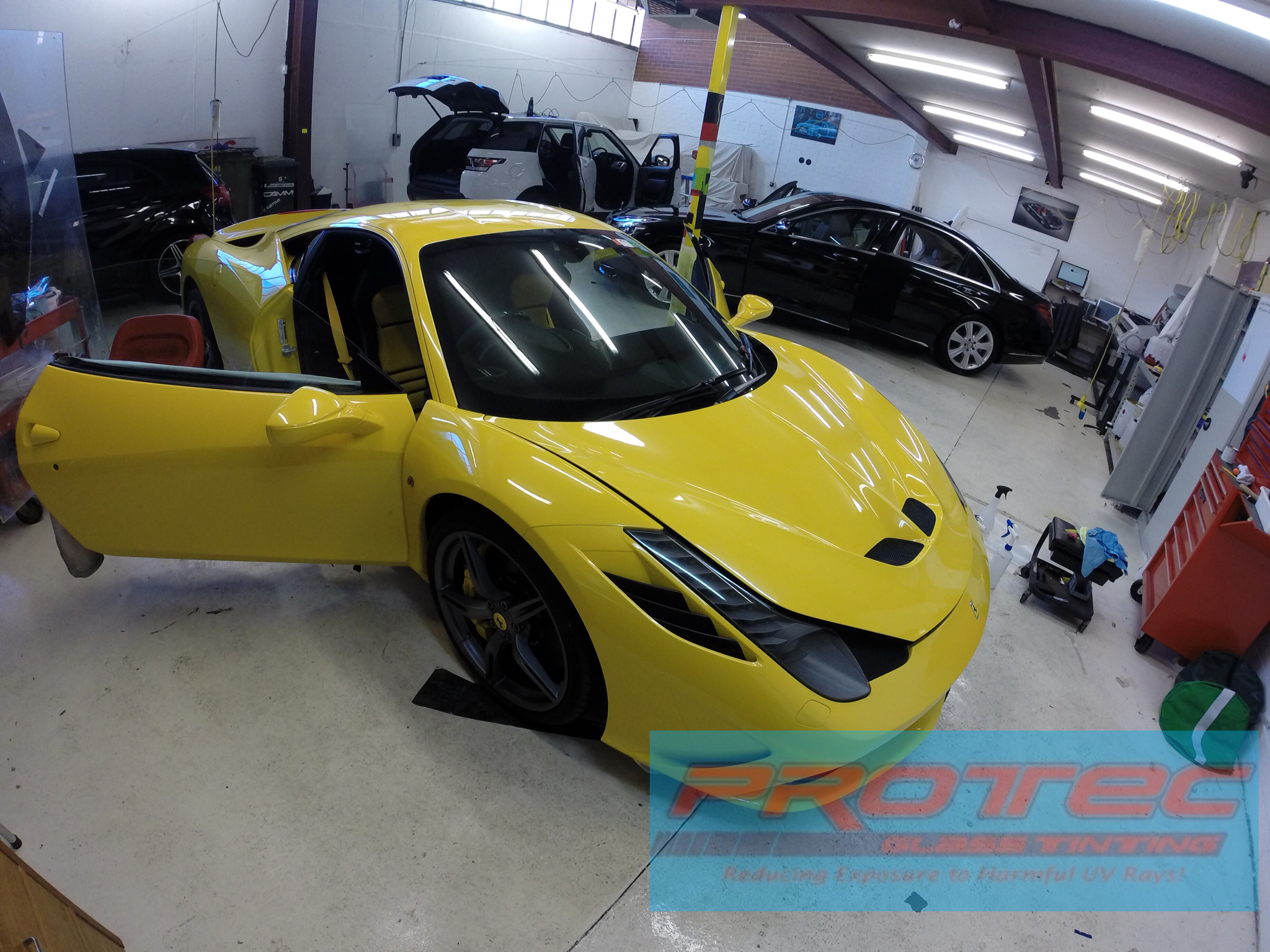 Car Window Tint installed on Ferrari 458 Speciale  Perth