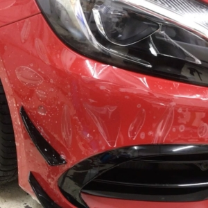 Paint Protection Film installed on the front of A45 AMG using Suntek Paint Protection Film.