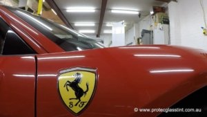 Paint protection film installed on Ferrari 458