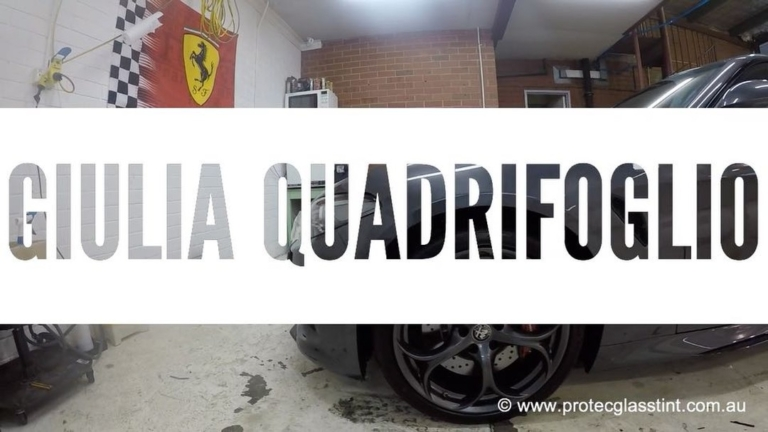 Paint protection film installed on Alfa Romeo Giulia Quadrifoglio