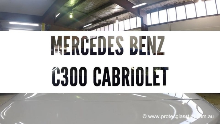 Car Window Tinting installed on Mercedes-Benz C300