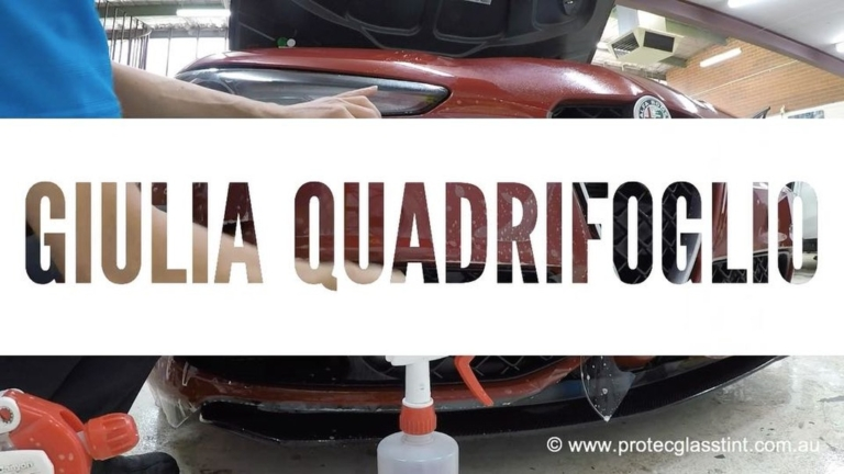 Paint protection film on Alfa Romeo Giulia Quadrifoglio